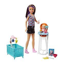Barbie bébiszitter játékszett - Skipper etetőszékkel (kép 1)