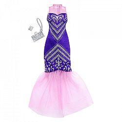Barbie ruhák - lila csillámló parti ruha (kép 1)