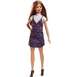 Barbie Fashionista barátnők - alacsony világosbarna hajú szíves ruhában (kép 1)