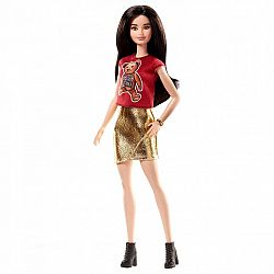 Barbie Fashionista barátnők - fekete hajú macis felsőben (kép 1)