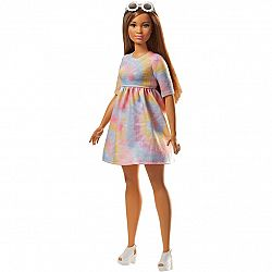 Barbie Fashionista barátnők - molett barna színes ruhában (kép 1)