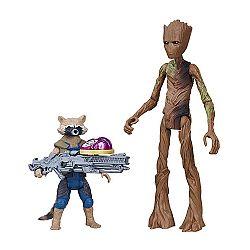 Bosszúállók: Végtelen háború közepes figura kővel - Mordály és Groot (kép 1)