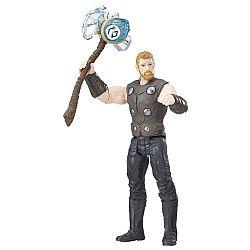 Bosszúállók: Végtelen háború közepes figura kővel - Thor (kép 1)