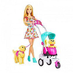 Barbie kutyasétáltató játékszett (kép 1)