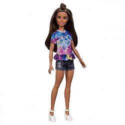 Barbie Fashionista barátnők - alacsony barna hajú farmer rövidnadrágban (kép 1)