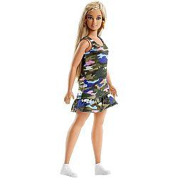 Barbie Fashionista barátnők - szőke molett terep mintás ruhában (kép 1)