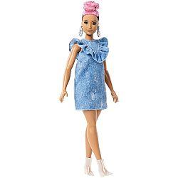 Barbie Fashionista barátnők - rózsaszín hajú molett farmer ruhában (kép 1)