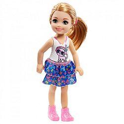 Barbie Chelsea babák - szőke cicás felsőben (kép 1)