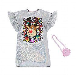 Barbie karácsonyi ruhák - Rénszarvasos parti ruha (kép 1)