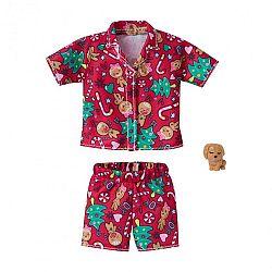 Barbie karácsonyi ruhák - Karácsonyi mintás pizsama (kép 1)