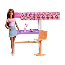 Barbie szoba babával - Íróasztal emeletesággyal (kép 1)