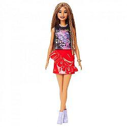 Barbie Fashionista barátnők - magas kreol bőrű piros szoknyában (kép 1)