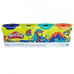 Play-Doh 4 darabos gyurmaszett - fiús színek (kép 1)