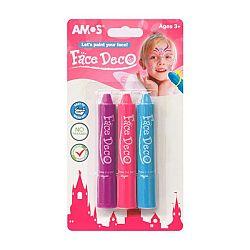 AMOS Arcfesték 3 féle színnek - lányos (kép 1)
