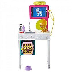 Barbie karrier kiegészítő szett - állatorvos (kép 1)