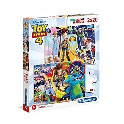 Clementoni supercolor puzzle 2x20 darab - Toy Story 4. (kép 1)
