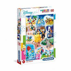 Clementoni supercolor puzzle 60 db - Disney klasszikusok (kép 1)