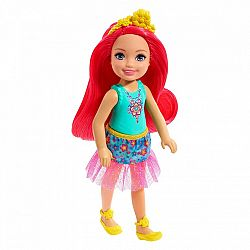 Barbie Dreamtopia Chelsea baba - Pink hajú (kép 1)