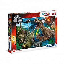 Clementoni supercolor puzzle 104 db - Jurassic World (kép 1)