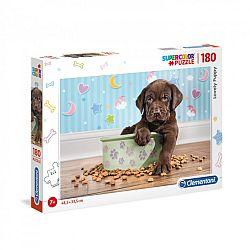 Clementoni supercolor puzzle 180 db - Édes kutyus (kép 1)
