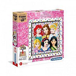 Clementoni puzzle képkerettel 60 db - Disney Hercegnők (kép 1)