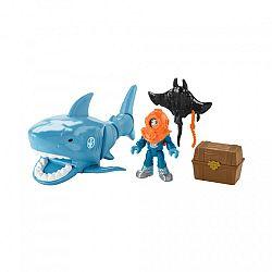 Fisher-Price Imaginext - Cápás játékszett búvárral (kép 1)