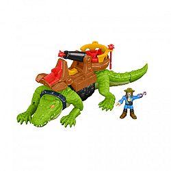 Fisher-Price Imaginext - Sétáló krokodil és Hook kaptiány (kép 1)