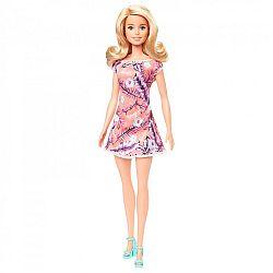 Barbie baba trópusi mintás ruhában - szőke (kép 1)