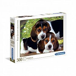 Clementoni High Quality Collection puzzle 500 db - Beagle kölykök (kép 1)
