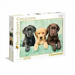 Clementoni High Quality Collection puzzle 1000 db - Labrador kölykök (kép 1)