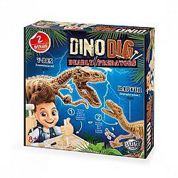Dínó felfedező készlet T-REX és Velociraptor BUKI (kép 1)