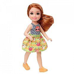 Barbie Chelsea babák - vörös hajú kislány lajháros felsőben (kép 1)