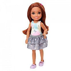 Barbie Chelsea babák - barna hajú kislány unikornisos felsőben (kép 1)