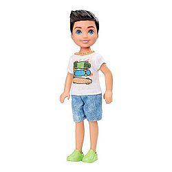 Barbie Chelsea babák - barna kisfiú gördeszkás felsőben (kép 1)