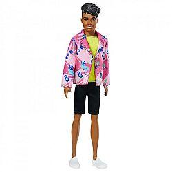 Barbie 60. évfordulós Ken baba - Afroamerikai pink mintás zakóban (kép 1)