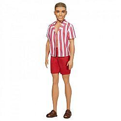 Barbie 60. évfordulós Ken baba - Barna hajú piros csíkos ingben (kép 1)