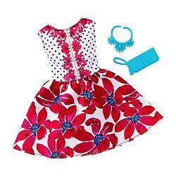 Barbie ruhák - virágos parti ruha (kép 1)