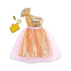 Barbie ruhák - arany parti ruha (kép 1)