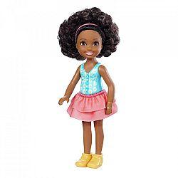 Barbie Chelsea babák - barna bőrű kislány virágos felsőben (kép 1)