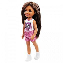 Barbie Chelsea babák - barna hajú kutyusos felsőben (kép 1)