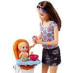 Barbie bébiszitter játékszett - Skipper etetőszékkel (kép 2)