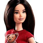 Barbie Fashionista barátnők - fekete hajú macis felsőben (kép 2)
