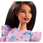 Barbie Fashionista barátnők - molett barna virágos rövidnadrágban (kép 2)