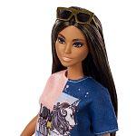 Barbie fashionista barátnők - latin hosszú barna hajú (kép 2)