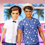 Barbie Fashionista fiú barátok - barna hajú vékony Ken fehér ingben (kép 3)