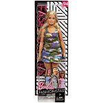 Barbie Fashionista barátnők - szőke molett terep mintás ruhában (kép 4)