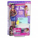 Barbie Skipper bébiszitter játékszett - Skipper fürdőkáddal (kép 5)