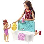 Barbie Skipper bébiszitter játékszett - Skipper fürdőkáddal (kép 2)