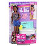 Barbie Skipper bébiszitter játékszett - Afroamerikai baba fürdőkáddal (kép 5)