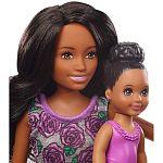 Barbie Skipper bébiszitter játékszett - Afroamerikai baba fürdőkáddal (kép 4)